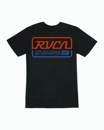 1 TRANSMISSION SHORT SLEEVE T-SHIRT Black M4013RTR RVCA