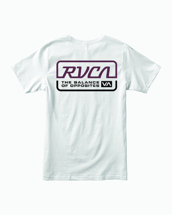 1 TRANSMISSION SHORT SLEEVE T-SHIRT White M4013RTR RVCA