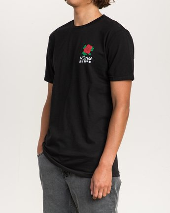 3 Roze T-Shirt Black M401PRRT RVCA