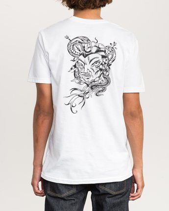 4 Dmote Serpentine T-Shirt White M401PRST RVCA