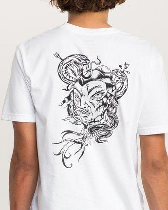 5 Dmote Serpentine T-Shirt White M401PRST RVCA