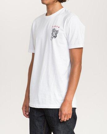 3 Dmote Serpentine T-Shirt White M401PRST RVCA