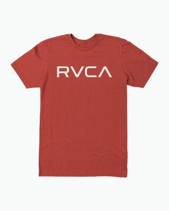 0 Big RVCA T-Shirt Red M401SRBI RVCA
