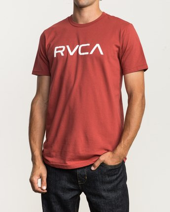 2 Big RVCA T-Shirt Red M401SRBI RVCA