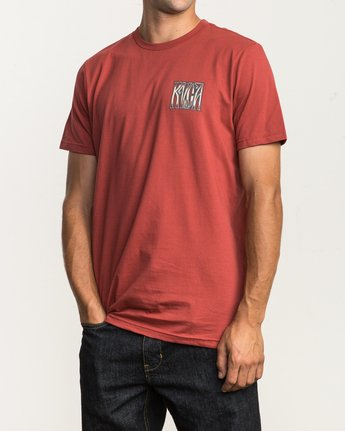 3 Gretta T-Shirt Red M401SRGR RVCA