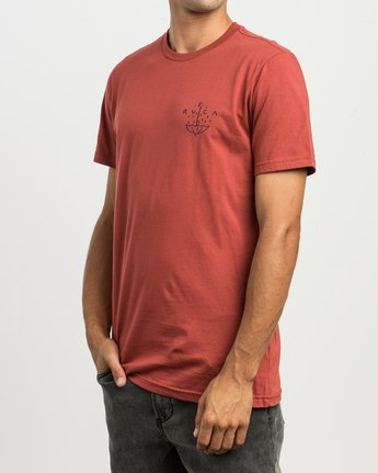 3 Pommier Grim Times T-Shirt  M401SRGT RVCA