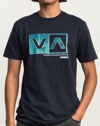 4 Riso Box T-Shirt Blue M401SRRI RVCA