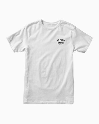 1 BJ Penn Square Up T-Shirt White M401SRSQ RVCA