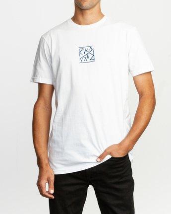 2 Flipper T-Shirt White M401TRFL RVCA