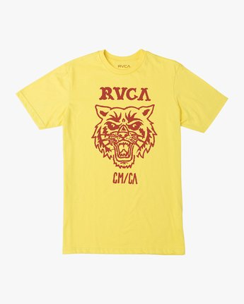 0 Dmote Mascot T-Shirt Yellow M401TRMA RVCA