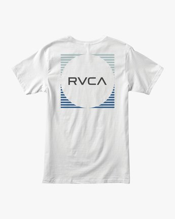 0 Motorstripe T-Shirt White M401TRMS RVCA