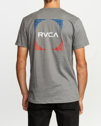 4 Motorstripe T-Shirt Grey M401TRMS RVCA