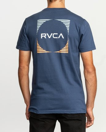 4 Motorstripe T-Shirt Blue M401TRMS RVCA