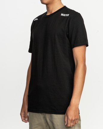 3 Oil And Water T-Shirt Black M401TROI RVCA