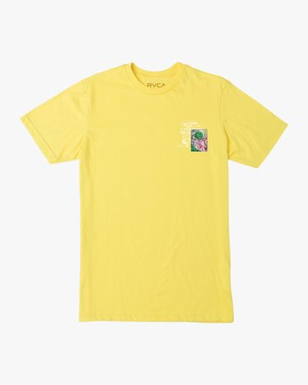 1 Sage Vaughn Shroom Collage T-Shirt Yellow M401TRSH RVCA