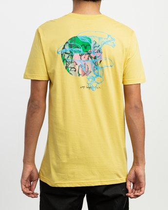 5 Sage Vaughn Shroom Collage T-Shirt Yellow M401TRSH RVCA