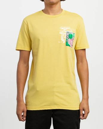 3 Sage Vaughn Shroom Collage T-Shirt Yellow M401TRSH RVCA