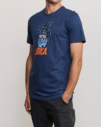 2 DMOTE Reflections T-Shirt Blue M401URRE RVCA