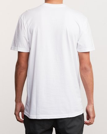 3 DMOTE Reflections T-Shirt White M401URRE RVCA