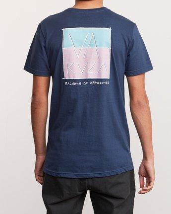 4 Split Scrawl T-Shirt Blue M401URSP RVCA