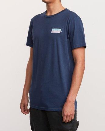 3 Split Scrawl T-Shirt Blue M401URSP RVCA