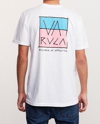 4 Split Scrawl T-Shirt White M401URSP RVCA