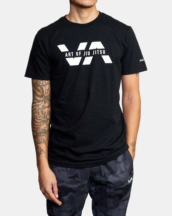 1 ART OF JIU JITSU SPLIT TEE  M401VRAS RVCA