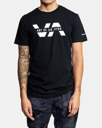 3 ART OF JIU JITSU SPLIT TEE  M401VRAS RVCA