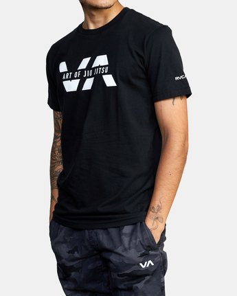 6 ART OF JIU JITSU SPLIT TEE  M401VRAS RVCA