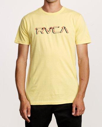 1 Big Glitch T-Shirt Yellow M401VRBG RVCA
