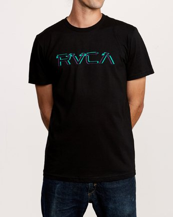 1 Big Glitch TEE Black M401VRBG RVCA