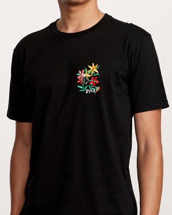 3 Grisancich Bouquet T-Shirt Black M401VRBO RVCA