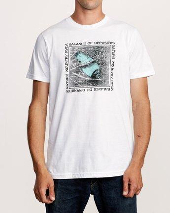 1 Crushed Nature T-Shirt White M401VRCN RVCA
