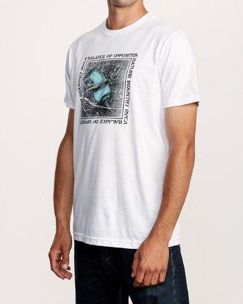 2 Crushed Nature T-Shirt White M401VRCN RVCA