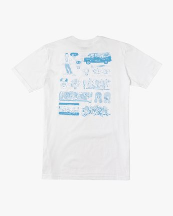1 Dmote Book T-Shirt White M401VRDP RVCA