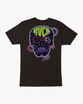 0 Dmote Electric Skull T-Shirt Black M401VREL RVCA
