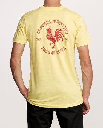 4 No Fight T-Shirt Yellow M401VRNO RVCA