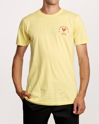 2 No Fight T-Shirt Yellow M401VRNO RVCA