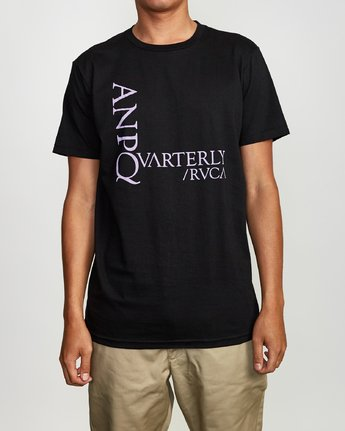 1 ANP Quarterly T-Shirt Black M401VRPQ RVCA