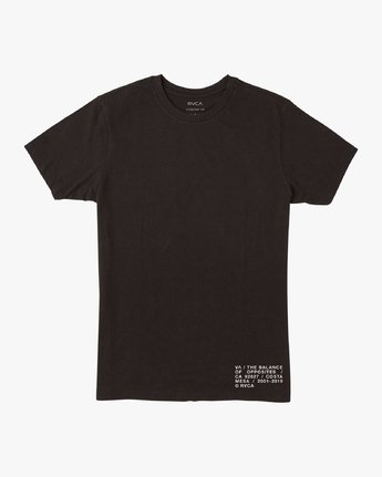 1 Spec T-Shirt Black M401VRSP RVCA