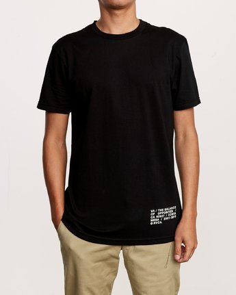 2 Spec T-Shirt Black M401VRSP RVCA
