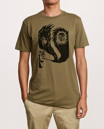 2 Francesco Swirling T-Shirt Green M401VRSW RVCA