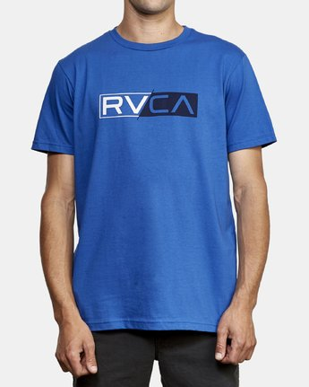 1 Lateral RVCA T-Shirt Blue M401WRLA RVCA