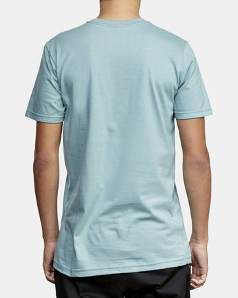 3 Lateral RVCA T-Shirt Green M401WRLA RVCA