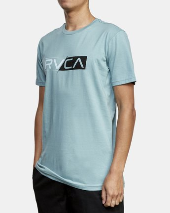2 Lateral RVCA T-Shirt Green M401WRLA RVCA