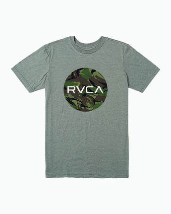 0 Motors Fill T-Shirt Green M401WRMO RVCA