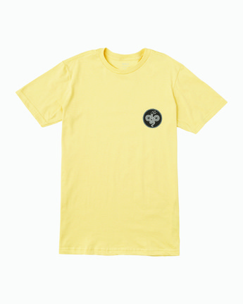 1 RVCA Serpent T-Shirt Yellow M401WRRS RVCA