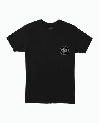 1 RVCA Serpent T-Shirt Black M401WRRS RVCA