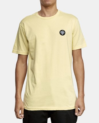 2 RVCA Serpent T-Shirt Yellow M401WRRS RVCA