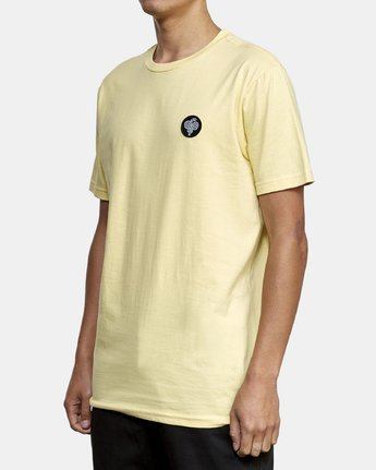 3 RVCA Serpent T-Shirt Yellow M401WRRS RVCA